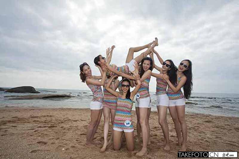 去海边的素颜照