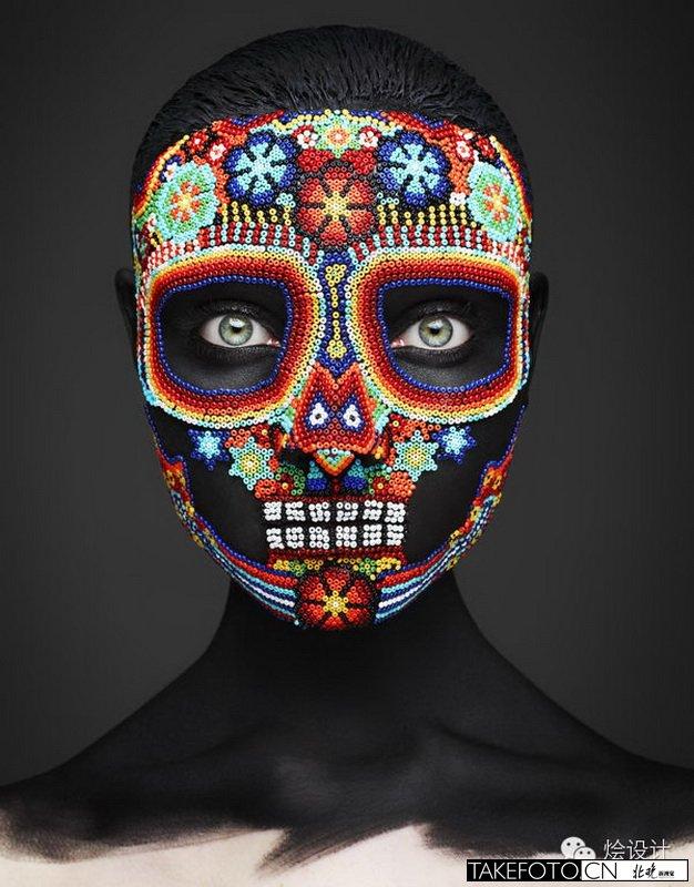 神奇的墨西哥面具 彩绘蒙面
