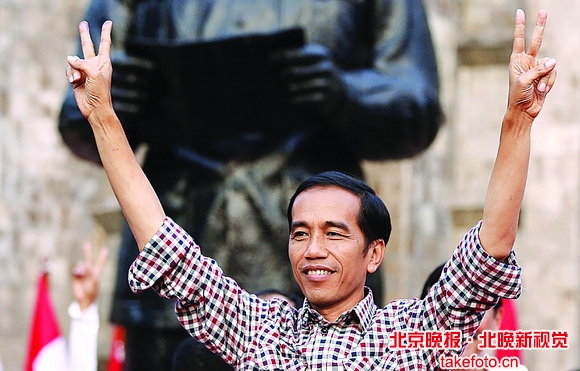 """印尼两名总统候选人均宣布""""获胜"""""""