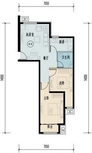 項目自住型商品住房建筑面積約5萬平方米,單套主要約為70-80平方米