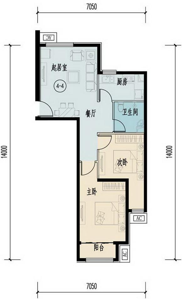 项目自住型商品住房建筑面积约5万平方米,单套主要约为70-80平方米