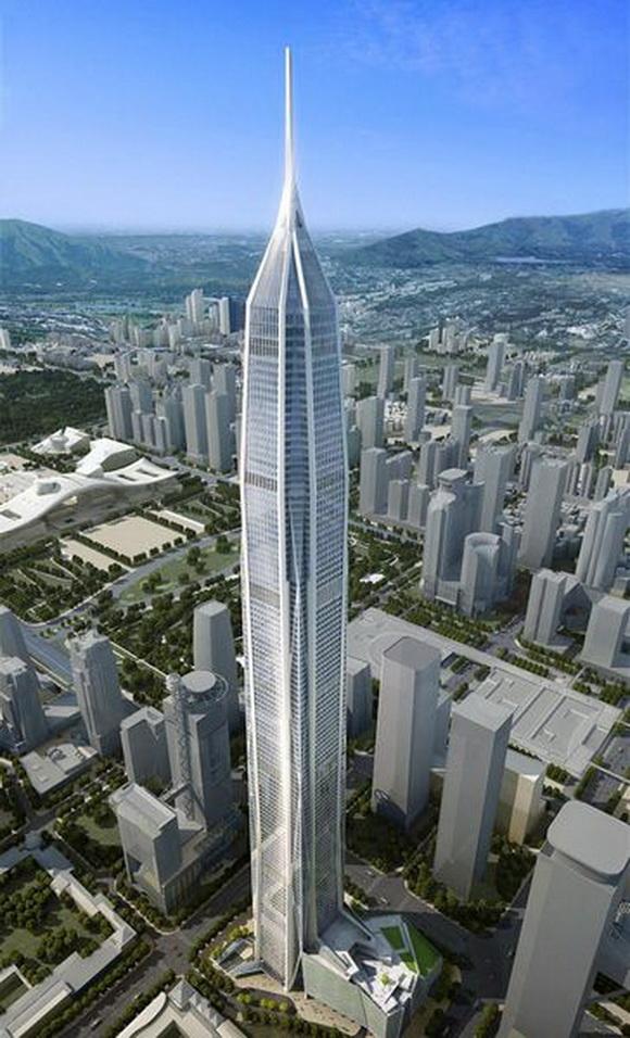 中国第一高楼上海中心大厦封顶 盘点中国未来十大高楼
