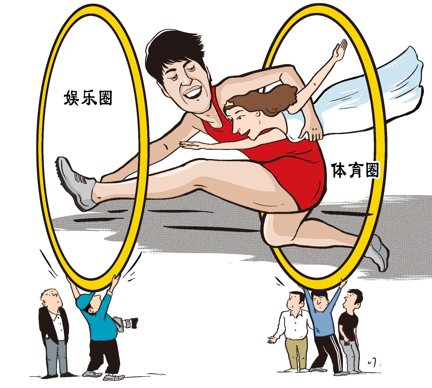刘翔卡通简笔画