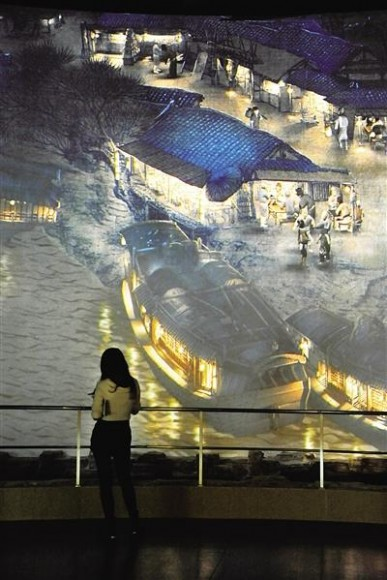 10月18日,曾在2010年上海世博会中国馆中展出的电子动态版《清明上河