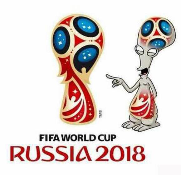 网友恶搞2018俄罗斯世界杯logo 脑洞大开《呐喊》也躺枪