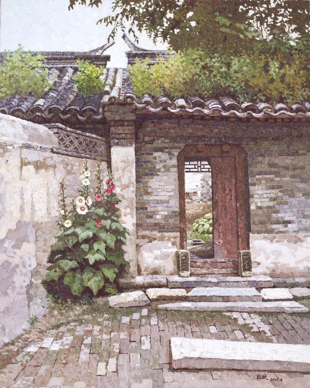 绘画技法,朴素,不虚张声势,宁静,从容,祥和,就像是北京的老胡同一样图片