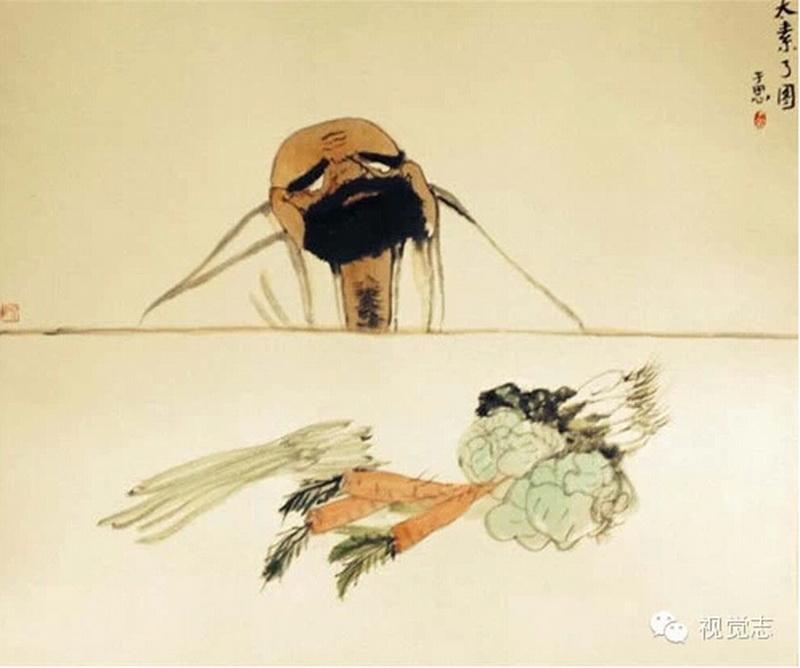 画家林于思笔下的达摩祖师