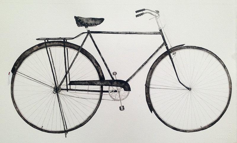 王焱—自行车(水彩)