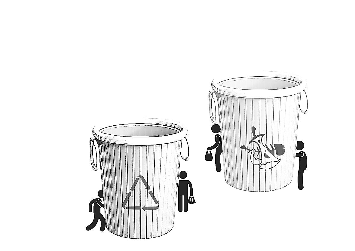 垃圾桶图片手绘
