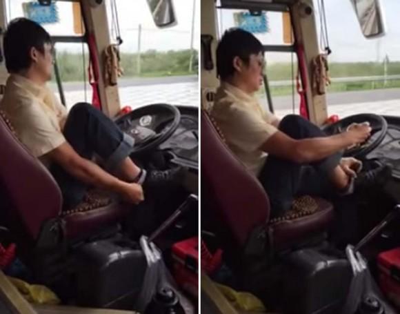 越南一奇葩司机边开车边试鞋:拿乘客生命冒险