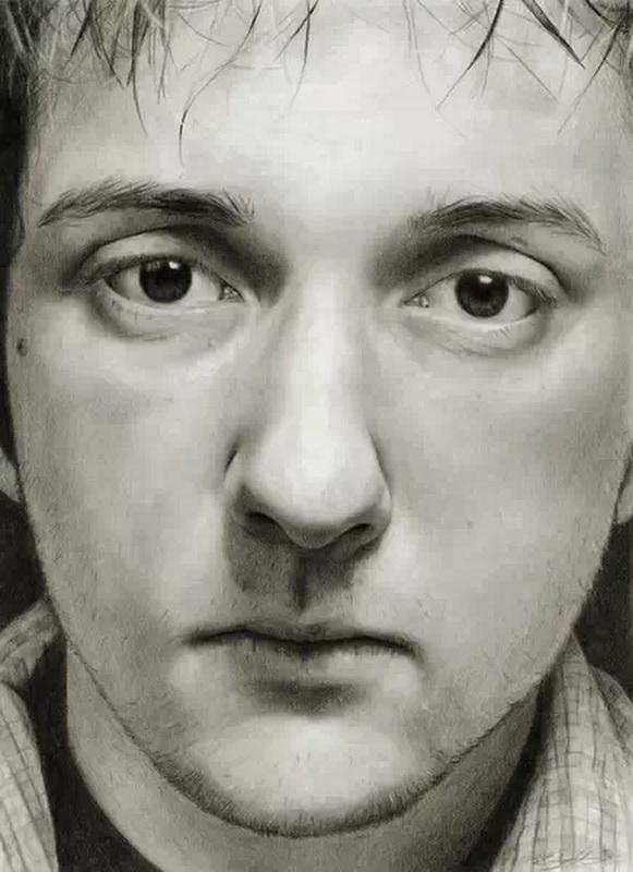 黑白手绘头像 铅笔画展示