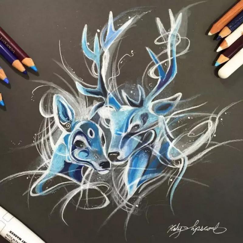 如此牛逼的彩铅手绘