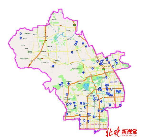 北京海淀区电动车充电桩分布地图