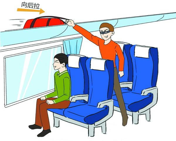 乘车行李摆放有窍门.绘图王海蛟