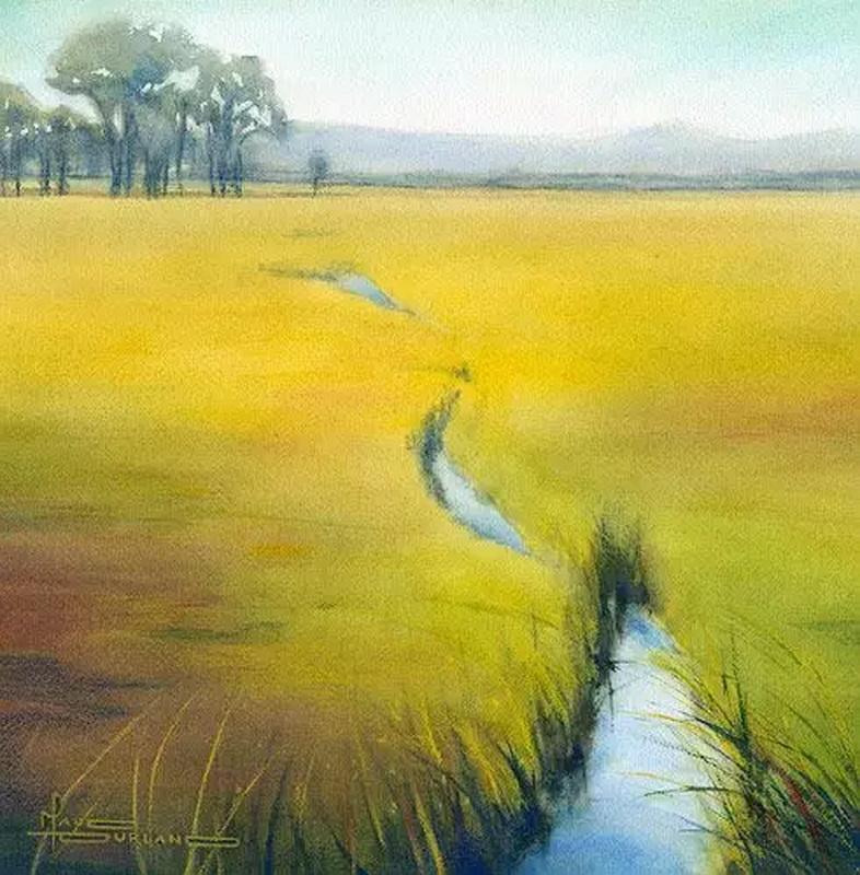 瑞典画家的意境水彩画