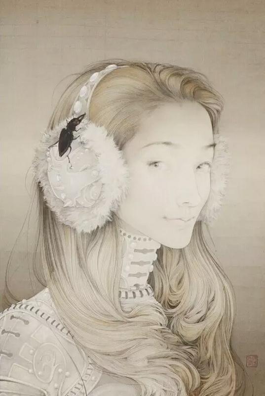 工笔画女子头发分享展示