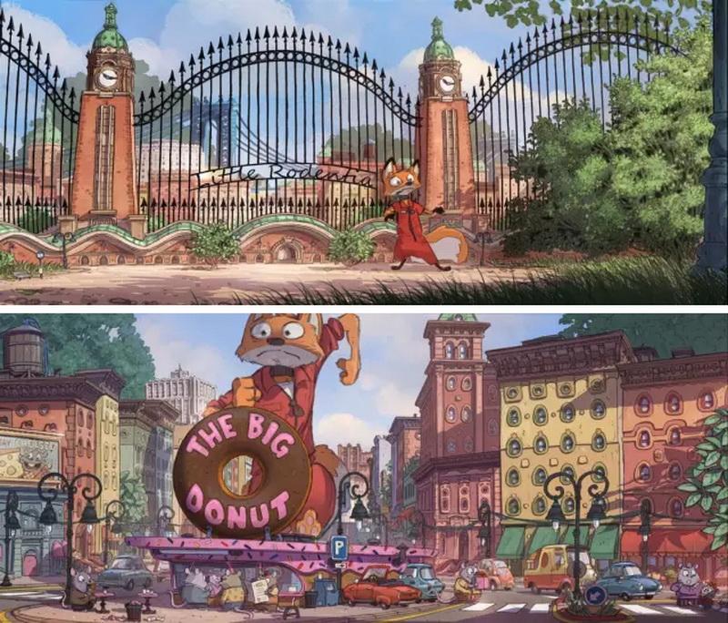 《疯狂动物城》原创设计手稿(场景篇)