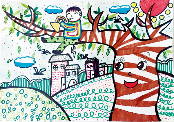 与读书有关的儿童画-读书儿童画图片大全_我爱读书儿童画_与故事有关