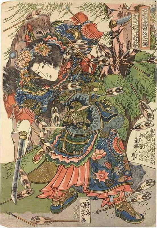 老虎机清零 日本浮世绘大师歌川国芳笔下的水浒人物