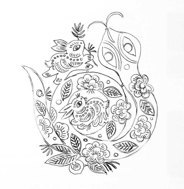 舞龙铅笔手绘图