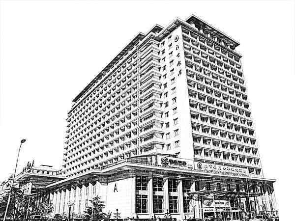 北京代表建筑简笔画