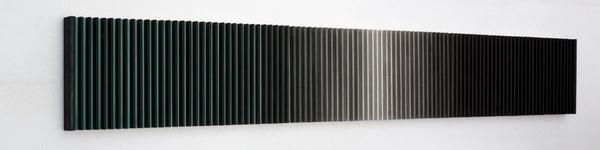 于洋 水墨物体No.11(侧面) 40×310cm 纸本水墨、木 2015_调整大小