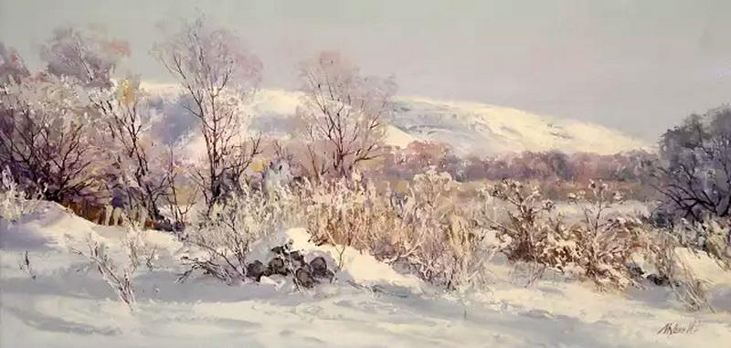 哈萨克斯坦画家风景油画作品(下)