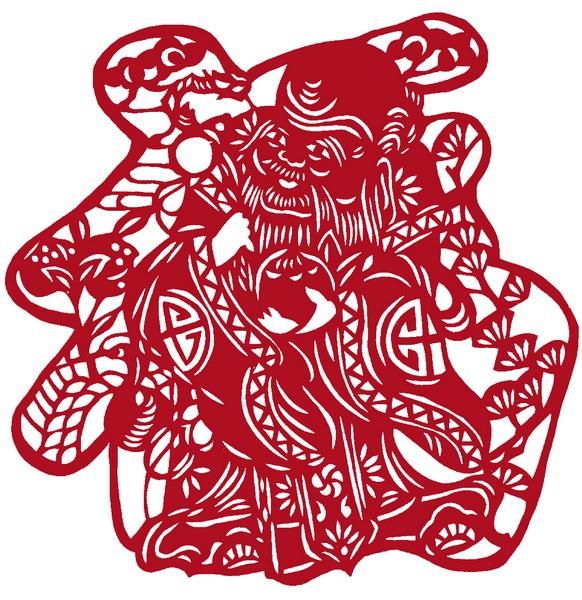 小葫芦福字图案