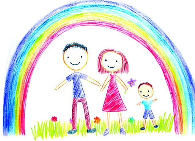 儿童涂鸦花朵空白素材