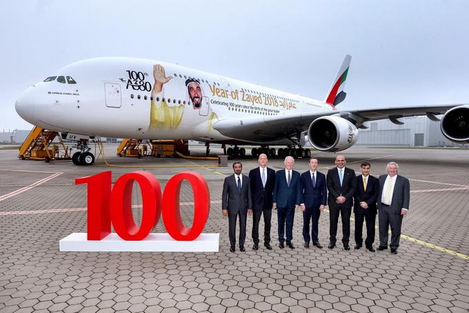 空中客车向阿联酋航空交付其第100架a380飞机