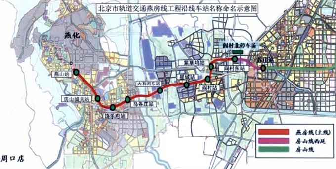燕房线与房山线西延在阎村东站可实现同台换乘