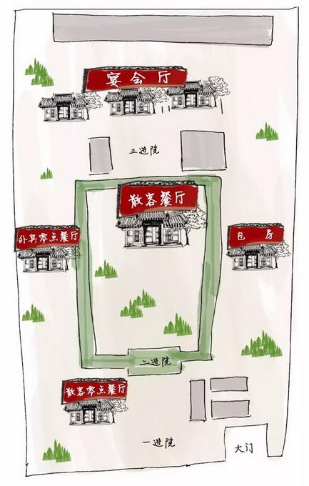 四川饭店布局示意图 杨盼绘