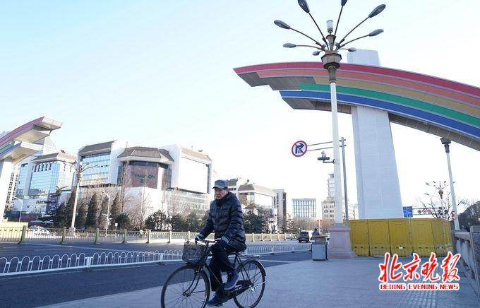 """北京长安街彩虹门新装亮相 """"修旧如旧""""还是儿时记忆"""