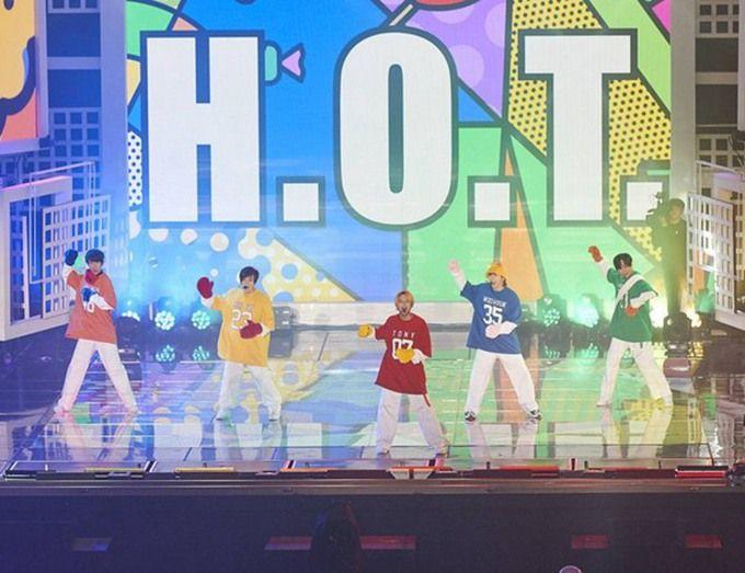 韩国男团h.o.t重聚 17年后重回传奇偶像团体榜单