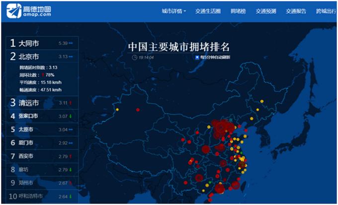 北京赛车彩票犯法吗:高德地图大数据:北京晚高峰严重拥堵,时速仅15.18km/h