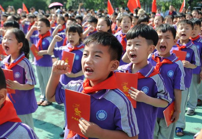 线上赌博平台网址:北京今年共有近10万新少先队员入队_将探索开展分批入队