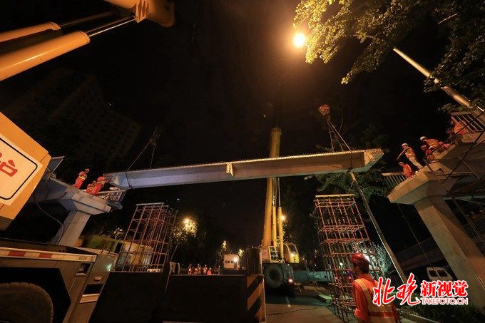 赛车345678必中技巧:马甸桥东天桥昨晚换梁完成_预计7月16日开放使用
