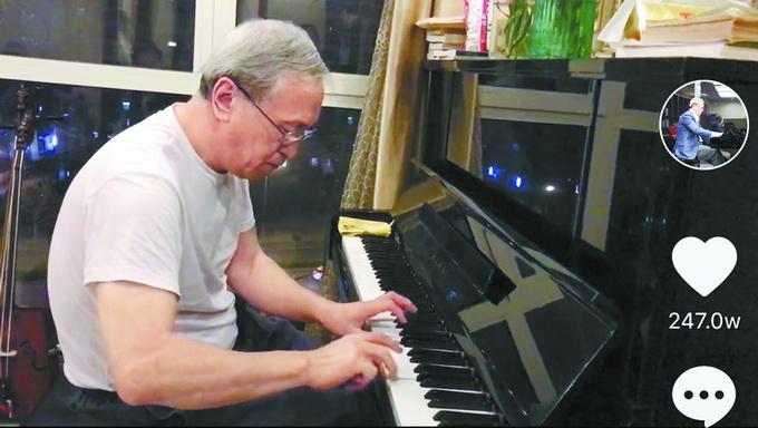 """网上可以买彩票吗:""""钢琴帅大爷""""在抖音吸粉超过百万_最讨厌别人问这两个问题"""
