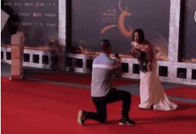 王珞丹红毯被求婚 网友:窈窕淑女君子好逑?(原创)