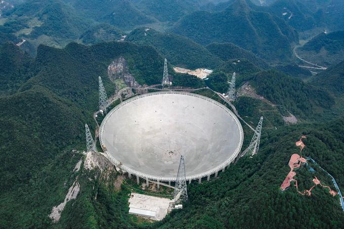 """尽管远在贵州省黔南州平塘县的深山里,但有""""中国天眼""""之称的500米"""