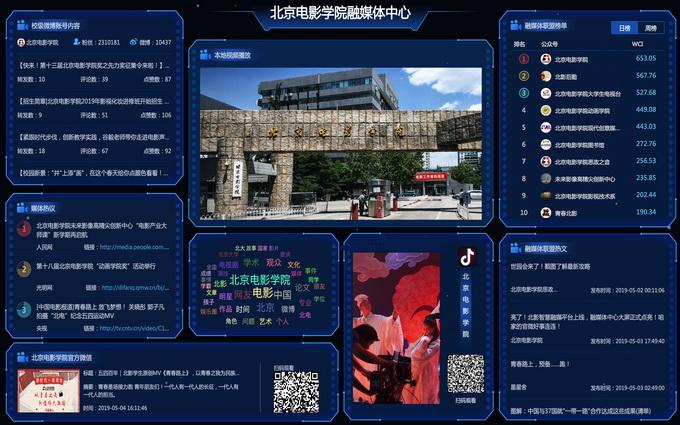 """视频矩阵_北京电影学院融媒体中心""""智慧融媒平台""""上线   北晚新视觉"""