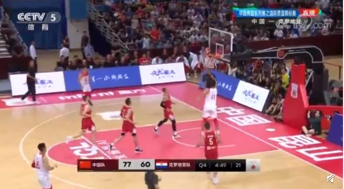 四国赛中国男篮击败克罗地亚,易建联状态回升砍19分7篮板