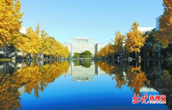 清华大学主楼喷泉亮相 成为校园新景观